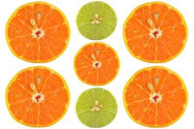 Affisch Halvor orange och lime på vit bakgrund