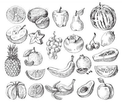 Affisch handritad frukt