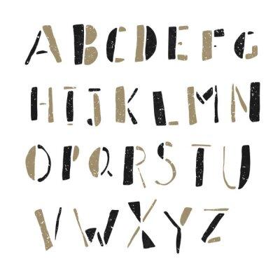 Affisch Handritade Doodles alfabetet