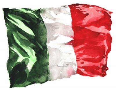 Affisch handritade vattenfärg sjunker av Italien - en realistisk, fladdrande i