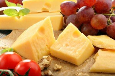 Affisch Hårdost sammansättning på ostbrickan