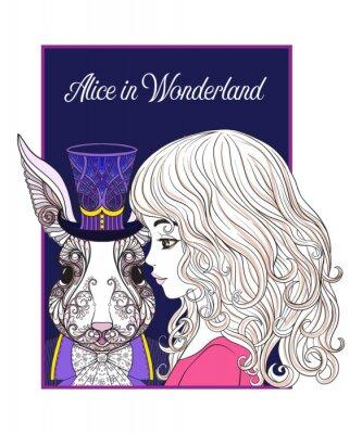 Affisch Hare eller kanin i hatten från sagan Alice in Wonderla