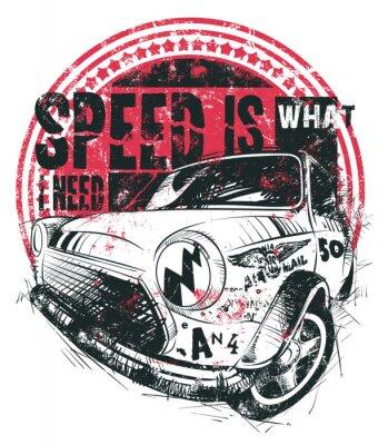 Affisch Hastigheten är vad jag behöver