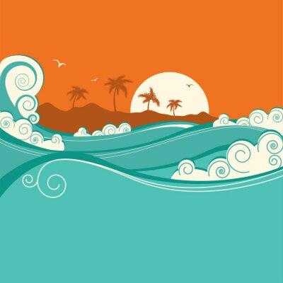 Affisch Havet background.Vector illustration