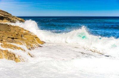 Affisch Havsvatten vågor skumma Rock Surf