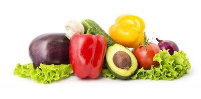 Affisch Heap av grönsaker