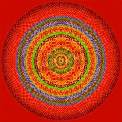 Affisch Henna mandala Design