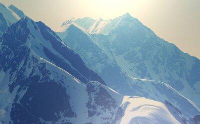 Affisch Höga bergen i Kaukasus