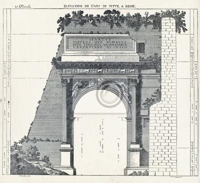 Affisch Höjd Titusbågen i Rom