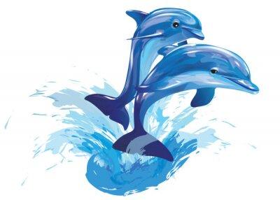 Affisch hoppar delfiner