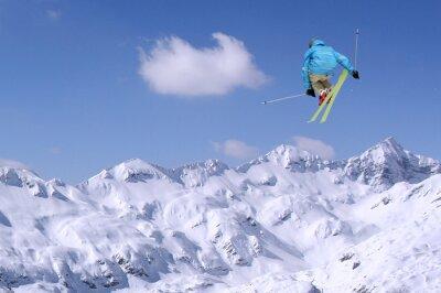 Affisch hoppning skidåkare