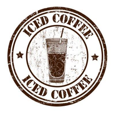 Affisch Iced coffee stämpel