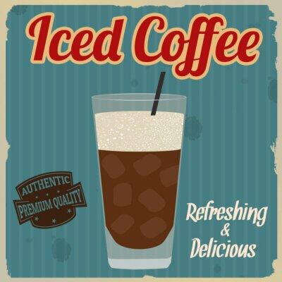 Affisch Iced kaffe retro affisch