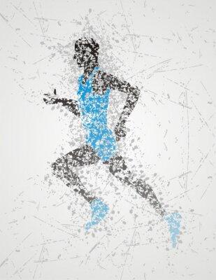 Affisch idrottsman utformning