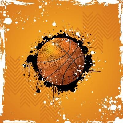 Affisch illustration basket på abstrakt grungy bakgrund