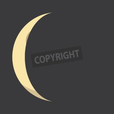 Affisch Illustrerad Flat månens faser
