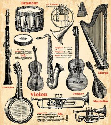 Affisch Instrument de musique