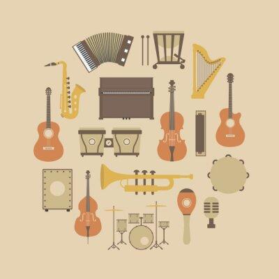 Affisch instrument ikon