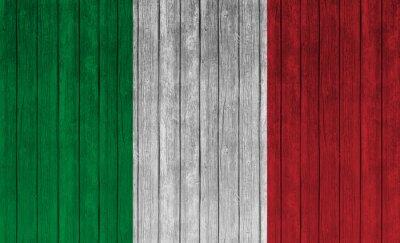 Affisch Italien sjunker på gammalt trä bakgrund
