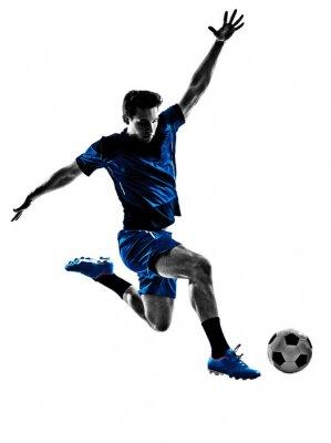 Affisch italiensk fotbollsspelare mansilhouette