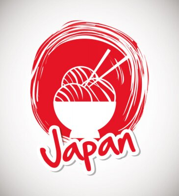 Affisch Japan kultur utformning