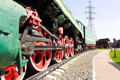 Affisch Järnväg lokomotiv