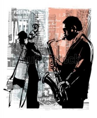 Affisch Jazz i New York - vektorillustration