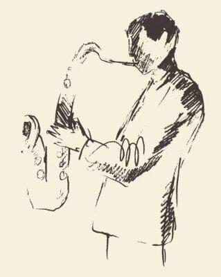 Affisch Jazzaffisch saxofon musik akustisk consept