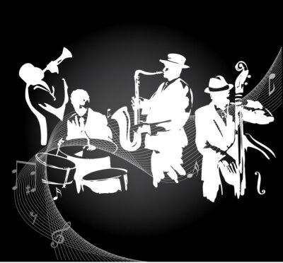 Affisch Jazzkonsert svart bakgrund