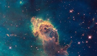 Affisch Jet i Carina Nebula. Består av gas och stoft.
