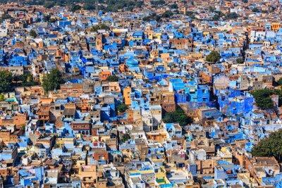 Affisch Jodhpur blå staden, Rajasthan, Indien
