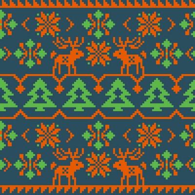 Affisch Jul och vinter stickad seamless