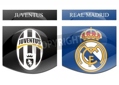 Affisch juventus vs real madrid