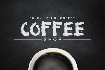 Affisch kaffe backgrond