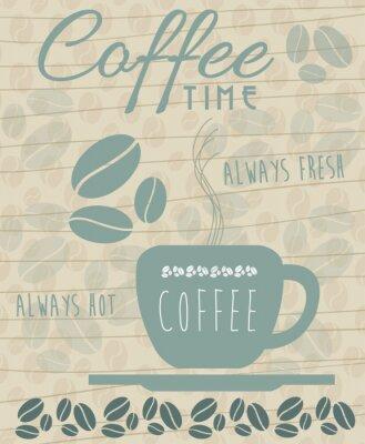 Affisch kaffe Ikon