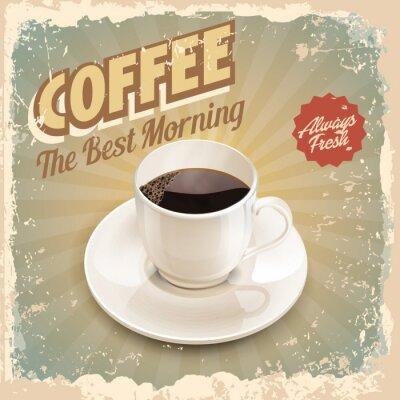 Affisch kaffe retro