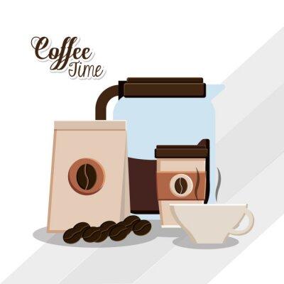 Affisch Kaffetid utformning