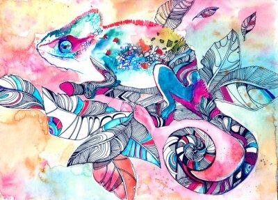 Affisch kameleont