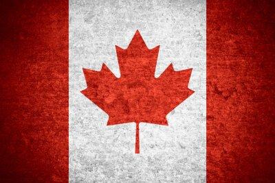 Affisch Kanadas flagga