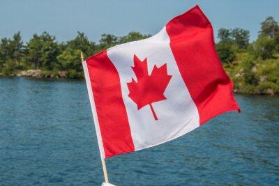 Affisch Kanadensare sjunker blåser i vinden Thousand Islands Kanada Ontario