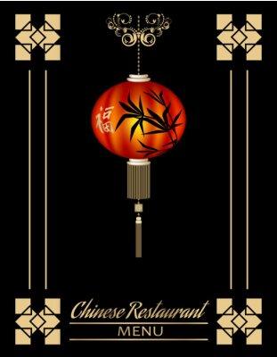 Affisch Kinesiska restaurang menyn cover
