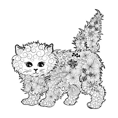 Affisch Kitten klotter