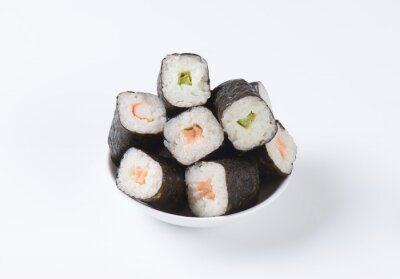 Affisch Klassiska sushi rullar