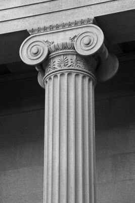 Affisch kolumn arkitektoniska detaljer och symbolik