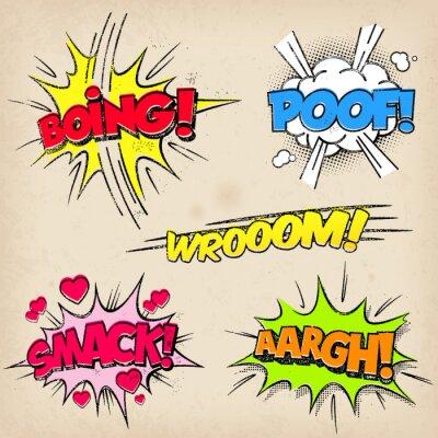 Affisch Komiska ljudeffekter med Grunged Style