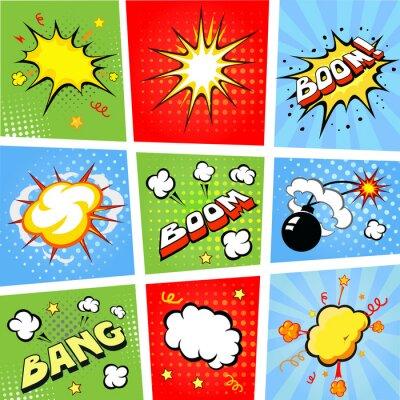Affisch Komiska pratbubblor och tecknad serie bakgrund illustration