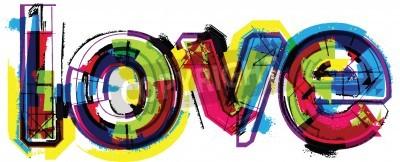 Affisch Konstnärlig ordet kärlek