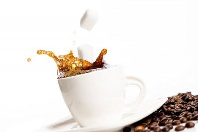 Affisch Kopp kaffe splash