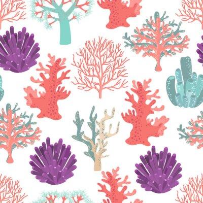 Affisch Koraller seamless