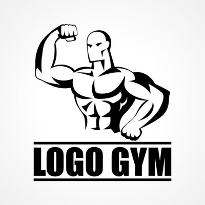 Affisch Kroppsbyggare ikon eller symbol
